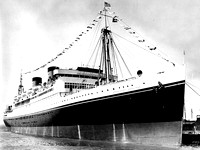 The SS President Coolidge during the 1930's.