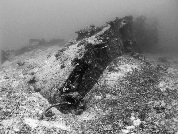 Wreck of the USS Tucker Bow