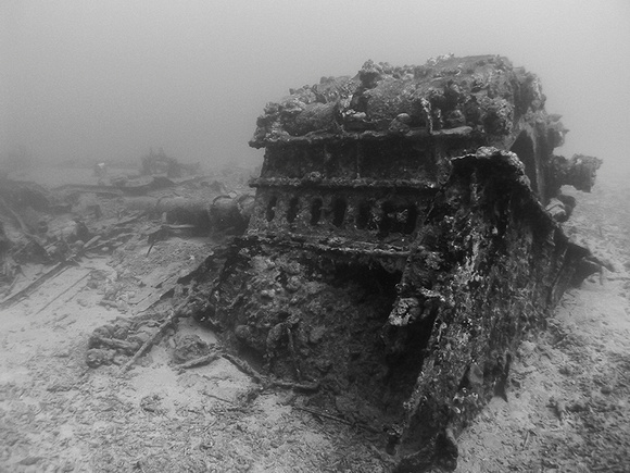 The Wreck of the USS Tucker Engine