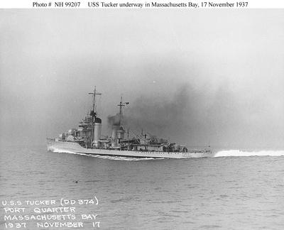 USS Tucker Underway